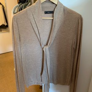 Zara knit tie-front lightweight sweater